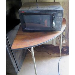 Half Table w/ Panasonic Microwave