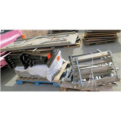 Qty 2 Pallets Misc Tables, Chairs, Metal Framing, etc