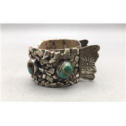 Fancy Looking Vintage Turquoise Watch Bracelet