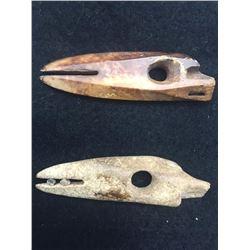 Antique Alaskan Harpoon Points from Walrus Ivory