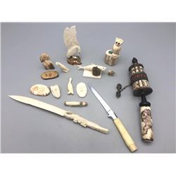 Group of Numerous Ivory and Bone Pieces