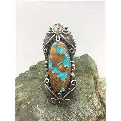Turquoise and Sterling Silver Ring by Peterson Johnson
