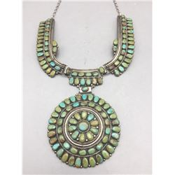 Vintage Turquoise Cluster Necklace- Juliana Williams