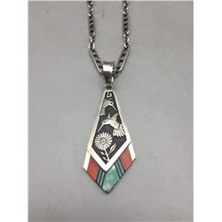 Philbert Begay Navajo Inlay Pendant