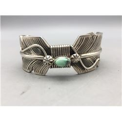 Unique Style Sterling Silver Feather Design Bracelet