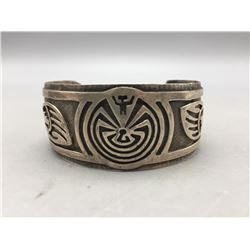 Man in the Maze Sterling Silver Overlay Bracelet