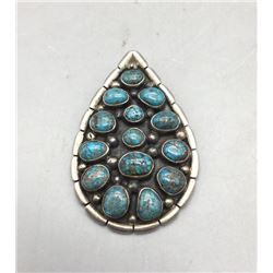 Nice Looking Spiderweb Turquoise Pendant