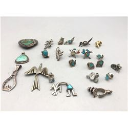 Group of Pins Pendants Tacks and etc