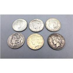 Six Silver Dollars