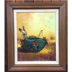 Robert Yellowhair Original Oil Painting