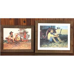Two Coors Cowboy Prints by Snidow