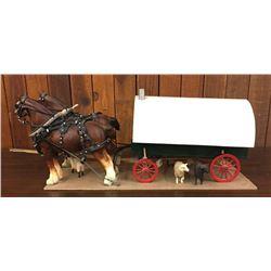 Detailed, Handmade Sheep Wagon by John Drost