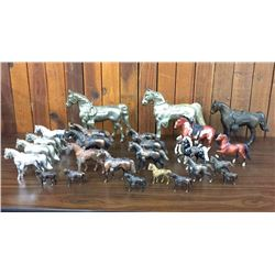 Group of Over 25 Miscellaneous Toy Horses