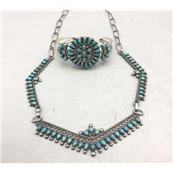 Vintage Zuni Necklace and Bracelet