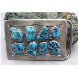 Vintage Eight Stone Turquoise Buckle