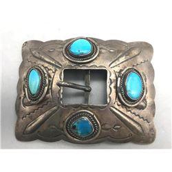 Older 4-Stone Belt Buckle
