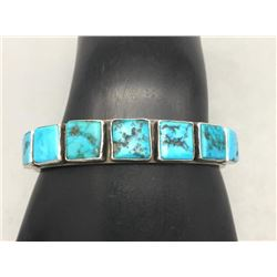 7-Stone Turquoise Bracelet by Kirk Smith