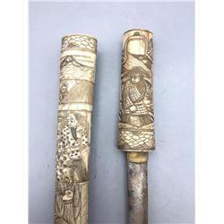 Vintage Japanese Tonto with Bone Sheath and Handle