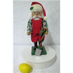 Holzkunst Christian Ulbricht Germany Handmade Santa Nutcracker (Retail $338)