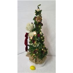 "Tall Christmas Tree w/ Climbing Teddy Bear (over 40"" Tall)"