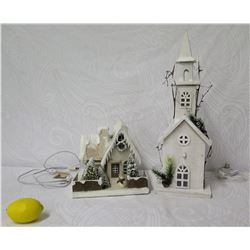 Bethany Lowe Designs Decorated House Figurines & Lighted Holiday Church