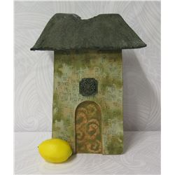 Ceramic House, Signed by Artist Vicky Chock 15.5  Tall