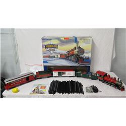 Bachmann Wonderland Flyer Train w/ Locomotive, Gift Cars, Caboose & Track