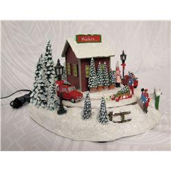 Roman Christmas Musical LED 'Bucky's Tree Farm' Figurine 7  Height