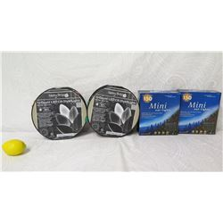 4 Light Sets: 2 Reels Merry Brite 70 Count & 2 Boxes Mini 150 Clear Lights