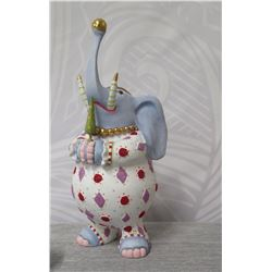 """Holiday Decorated Elephant w/ Outfit, Ball & Maker's Mark PB* - 7.5"""" Height"""
