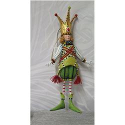 "King Figurine w/ Playing Card Back & Maker's Mark PB* - 7"" Height"