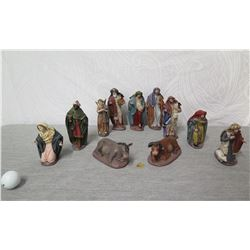 Nativity Scene Figureines:  Mary, Joseph, Wise Men, Angels, Animals, etc