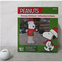 Air blown Peanuts Snoopy Inflatable Yard Decoration 3.5' Tall