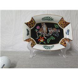 "Jungle Motif Decorative Plate, Lynn Chase (Retail $50) 8"" Long"