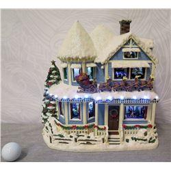 Thomas Kinkade Hawthorne Village 'The Night Before Christmas House' #E0899