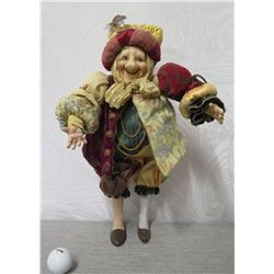 """The Lam Lee Group Shakespearian Jester Christmas Figurine 18"""" Tall"""