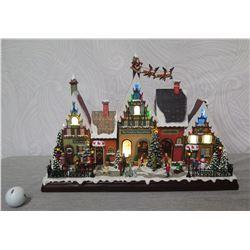 "Roman Christmas Musical LED North Pole Display 14"" Height (Retail $489)"