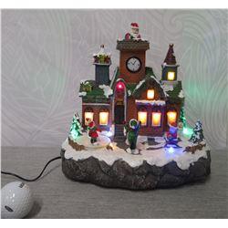 "Santa in the Chimney LED Illuminated Display 9.5"" Height"