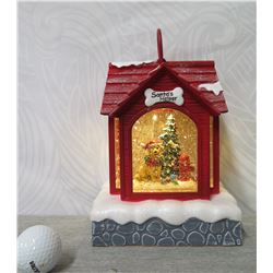 Razi 'Santa's Helper' Dog & Tree in Doghouse Illuminated Display (Retail $109)