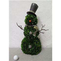 """MacKenzie Childs Leaf Snowman Figurine 22"""" Height (Retail Neiman Marcus $295)"""