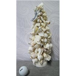 """The Plantation' Artificial Tree of White Shells 14"""" Height"""