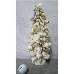 "The Plantation' White Seashells Tree, 14"" Tall"