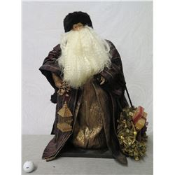 """Santa Figurine 'Over the Koolaus' Signed Ione Adams 2003 - 25"""" Tall"""