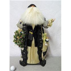 """Santa Figurine 'Over the Koolaus, Kaneohe' Signed Ione Adams 2001 - 25"""" Tall"""
