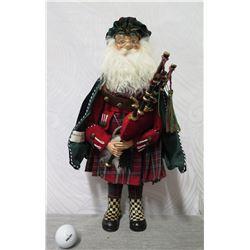 "MacKenzie-Childs Santa w/ Bagpipes 19"" Tall"
