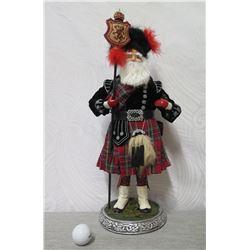 """Santa Figurine In Kilt on Celtic Knot Metal Base 20"""" Tall"""