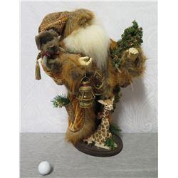 "Forever Christmas by Chelsea Fair Limited Edition Santa & Giraffe 22"" Height"
