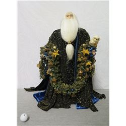 "Santa Figurine 'Over the Koolaus, Kaneohe' By Ione Adams 26"" Tall"