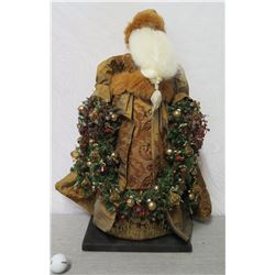"Santa Figurine 'Over the Koolaus, Kaneohe' By Ione Adams 28"" Tall"