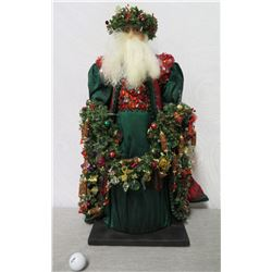 """Santa 'Over the Koolaus, Kaneohe' By Ione Adams, 27"""" Tall"""